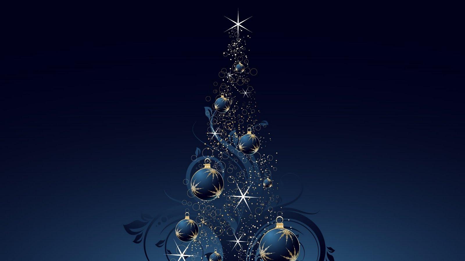 Blue Christmas Background | Hd Wallpaper