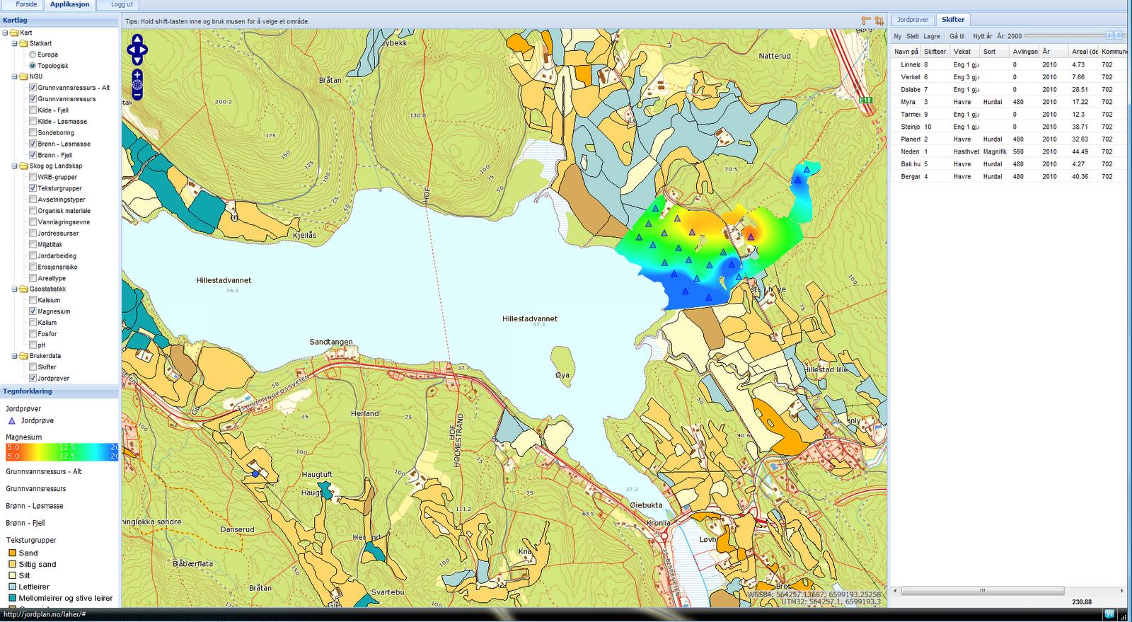 gårdskart på internett skog