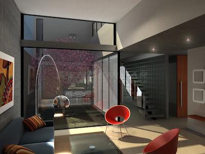Renderizar arquitectura imagenes 3d renders fotorrealismo casa con patio interior - Casas con patio interior ...