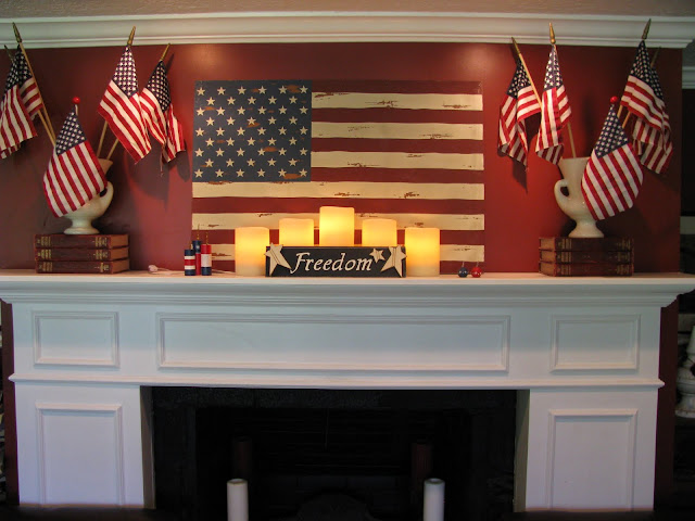 4th Of July Mantle Inspiration Amp Decorating Ideas The Crafted Sparrow