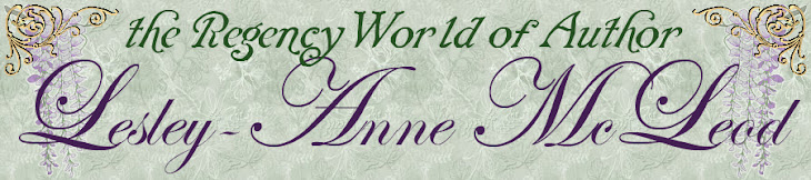 The Regency World of author Lesley-Anne McLeod