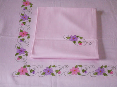 Sisteracts Hand Painted Bedsheet