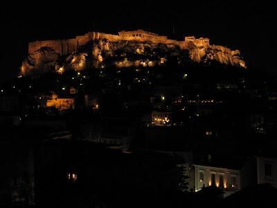 Las vistas de la Acropolis desde la terraza del hotel
