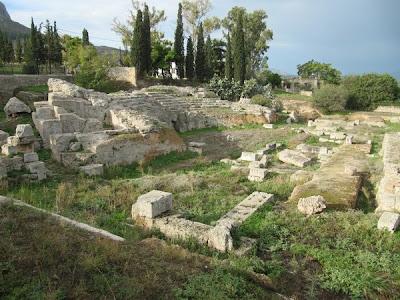 Odeón romano en Ancient Corinto