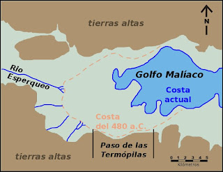 Mapa de las termópilas