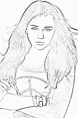 miley cyrus coloring pages - disney princess and frog coloring pages