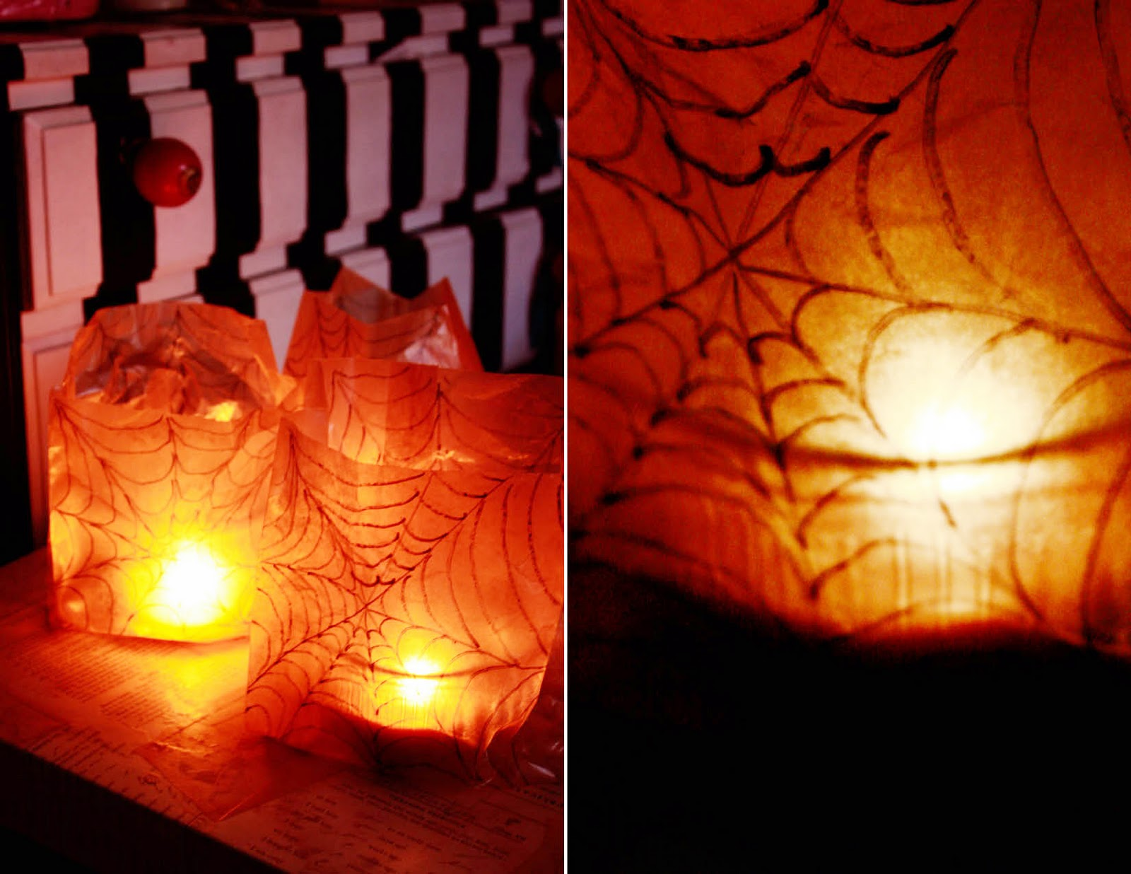 Spider Web Luminaries Aunt Peaches