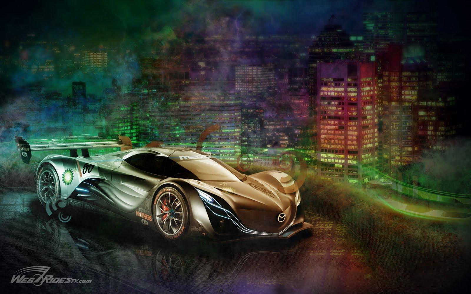 mazda furai concept car hd wallpapers | wallpaper hd black