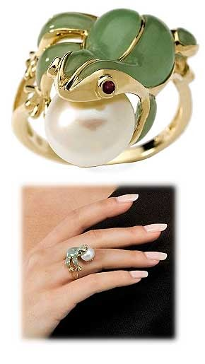 Jewelry Blog Gold Ruby Jade And Cultured Pearl Frog