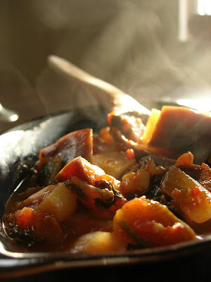 Given the number of different eggplant dishes in Turkish cuisine Vegeterian Eggplant Stew (Etsiz Patlican Güveç)