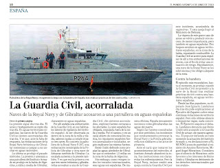 Ingleses atacan a un barco de la guardia civil