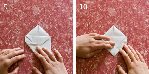 how to make an origami heart out of paper