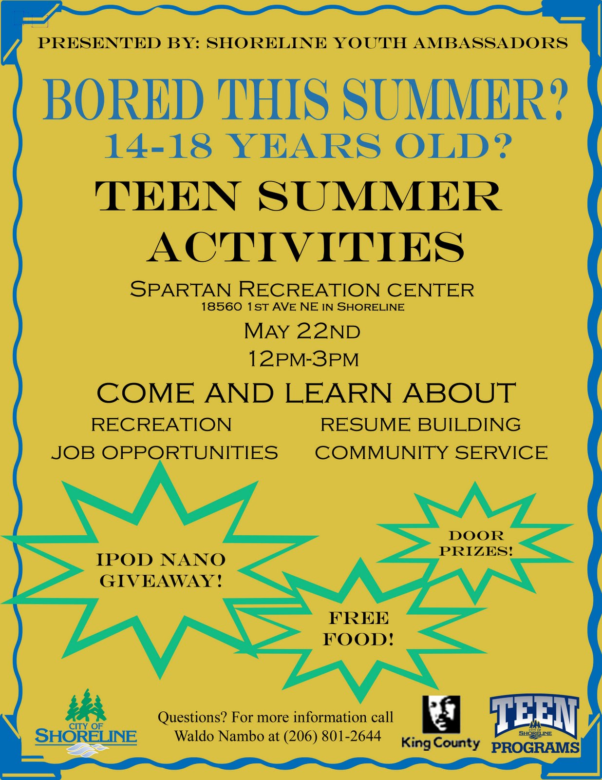 Shoreline Area News Teen Summer Activities Fair On May 22