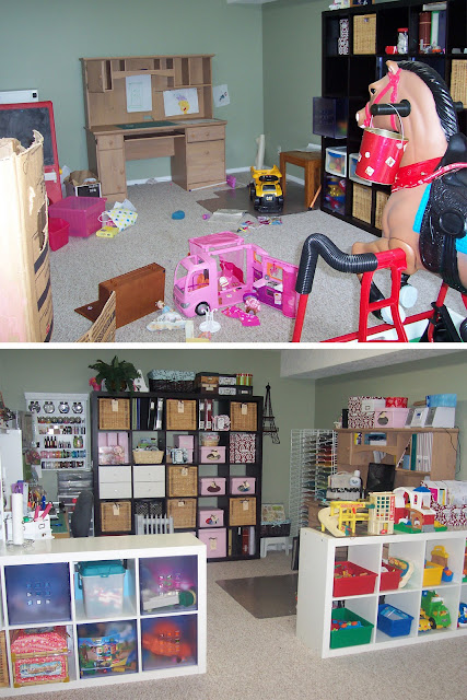 Creative Scrapbook Craft Space & Playroom - REVEAL!!