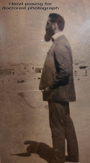 Altered image of Herzl