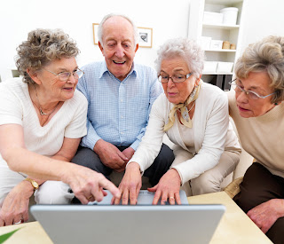 Boomers and Senior Citizens using social networks like Facebook