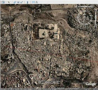 Bird's Eye View: Google Earth Map Marks Temple Mount Palestinian on harpercollins israel, youtube israel, driving directions in israel, world map israel, fotos de israel, bible map judah and israel, mapquest israel, map of israel, google earth israel, we love israel, azotus israel, kibbutz israel,
