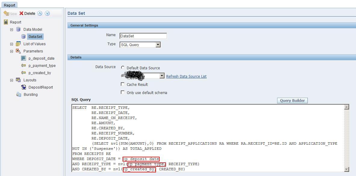 Zheng Tech Blog: BI Publisher: Passing Runtime Parameters