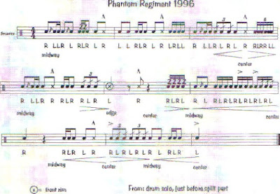 percussion and drum stuff snare drum sheet music phantom regiment 1996. Black Bedroom Furniture Sets. Home Design Ideas