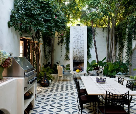 This Gorgeous Floor Made Of Custom Designed Mexican Tiles Stretches From The Indoor Kitchen All Way To Outdoor Courtyard