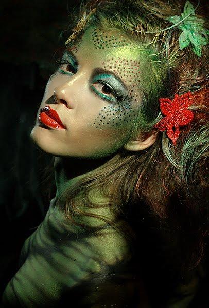 Inspiration Make Up Green Woodland Fairy Makeup Idea