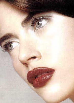 Inspiration Make Up Matte Red Lips And Natural Makeup