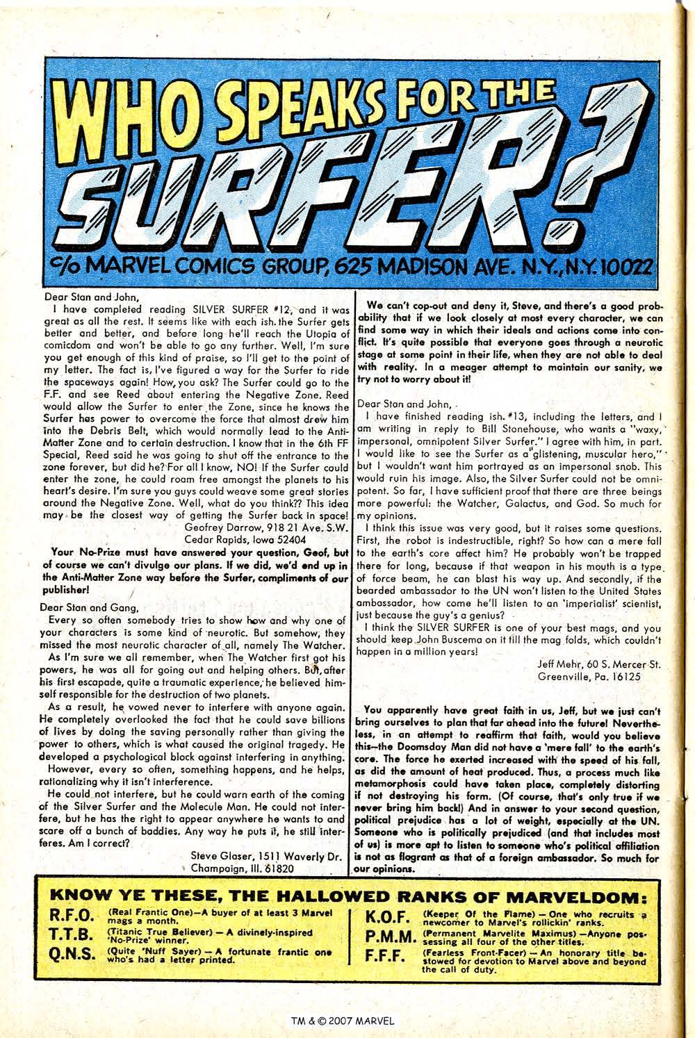 Read online Silver Surfer (1968) comic -  Issue #16 - 32