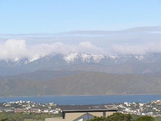 Snow on ranges east of Wellington