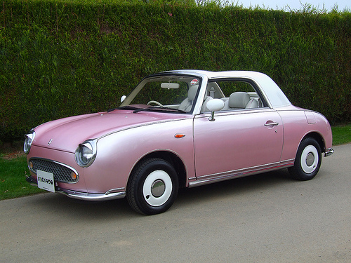 nissan figaro 1989 japanese classic car muscle cars never die. Black Bedroom Furniture Sets. Home Design Ideas