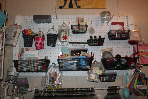 Moleskine Adventures Craft Room Organization - Pegboard