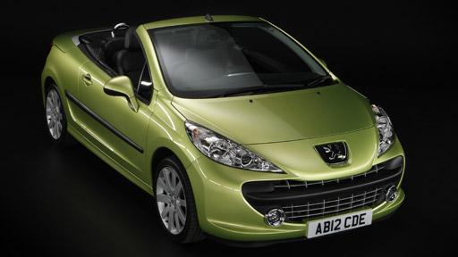 cars for sale peugeot 207 cc color green. Black Bedroom Furniture Sets. Home Design Ideas