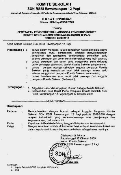Contoh Format Surat Perjanjian Bersama Antara Kepala ...
