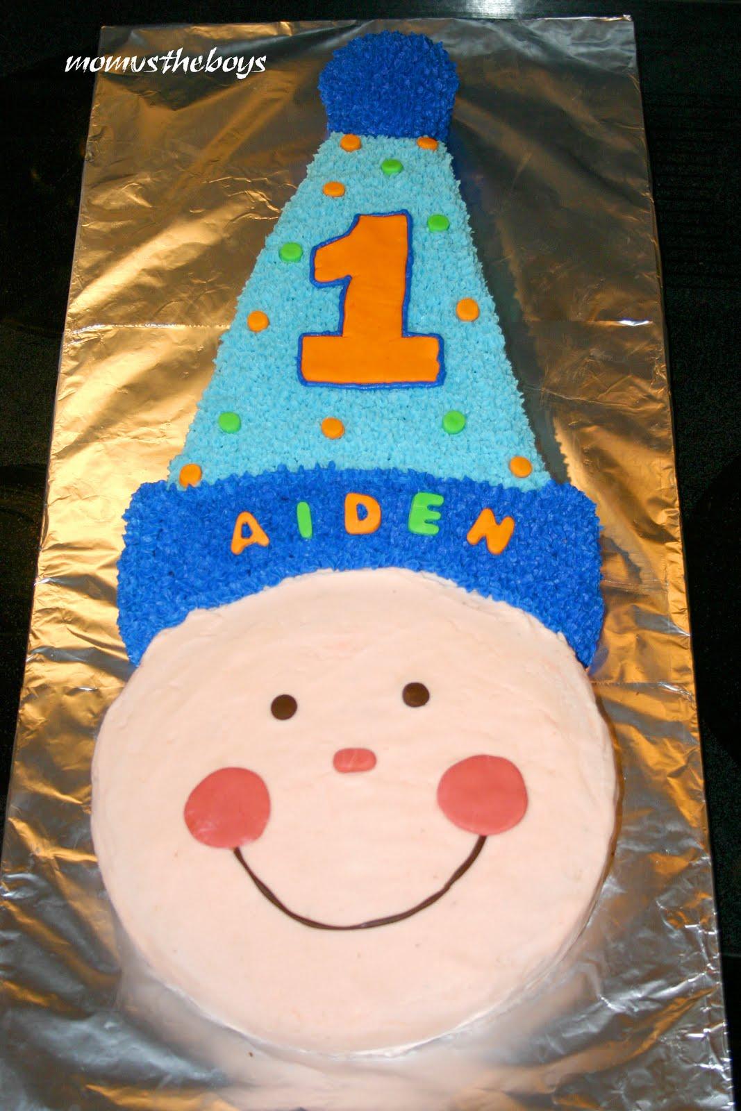 Baby Boys First Birthday Cake
