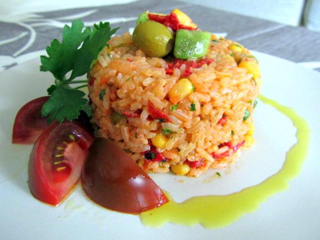Cocina con luz verde ensalada de arroz con sabores mexicanos - Ensalada de arroz light ...