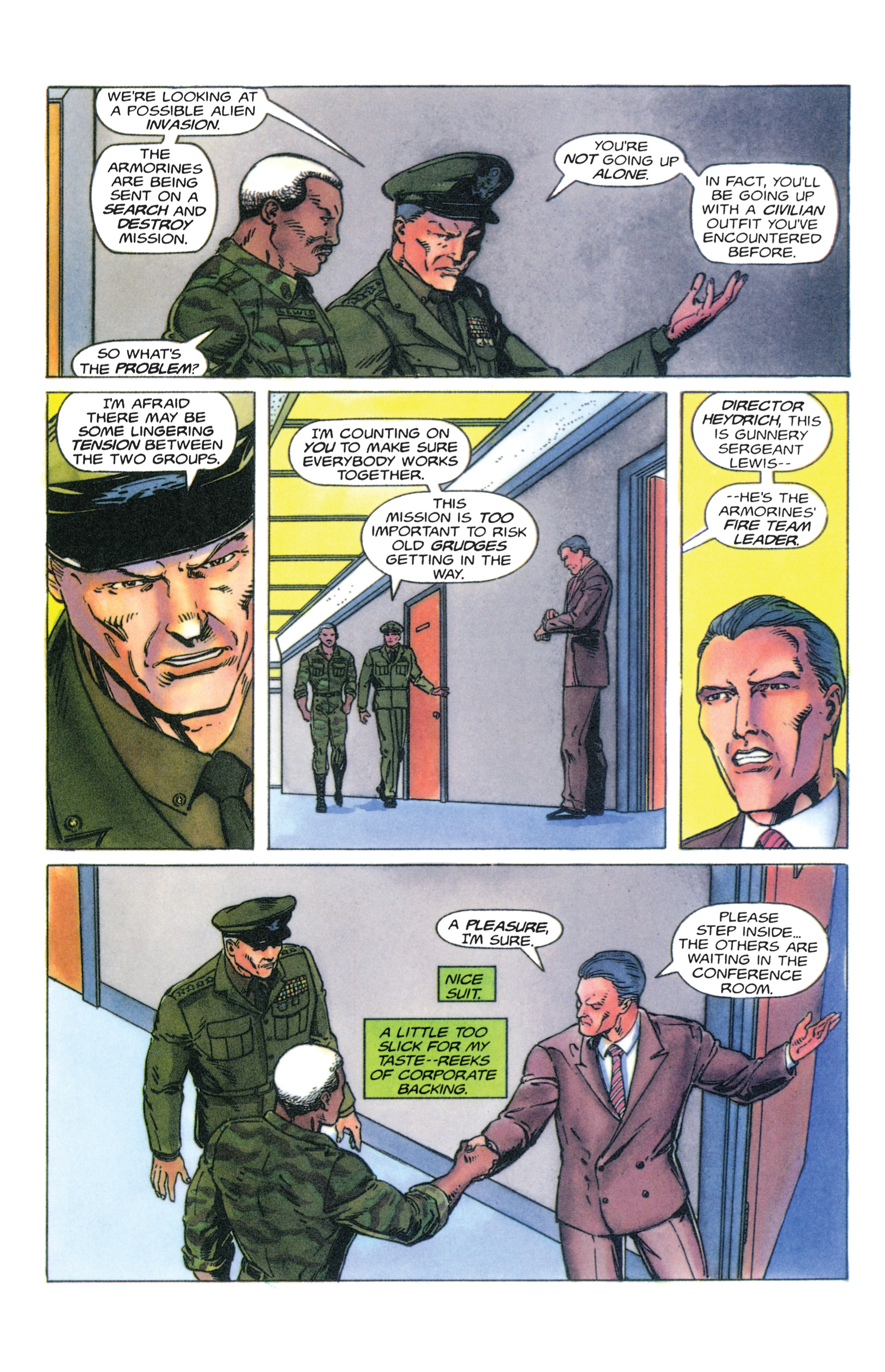 Read online Armorines comic -  Issue #4 - 21