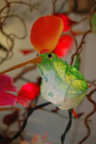 colorful fairy bird lights made of paper