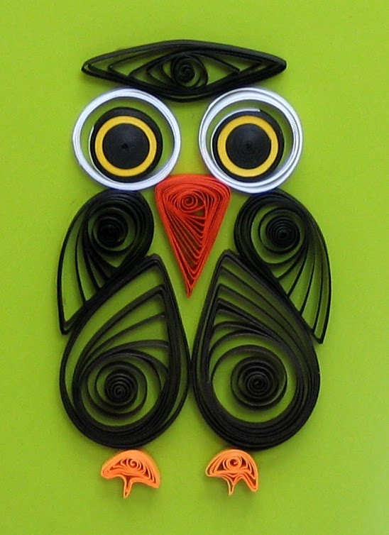 quilled owl detail
