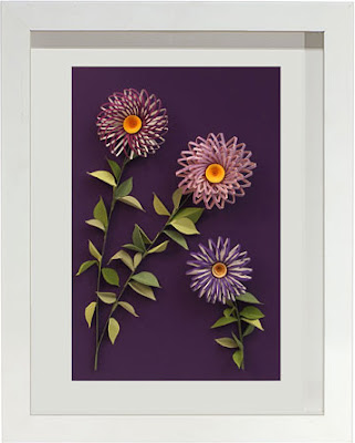 modern quilled flowers