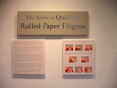 quilling exhibit - Brandywine River Museum of Art