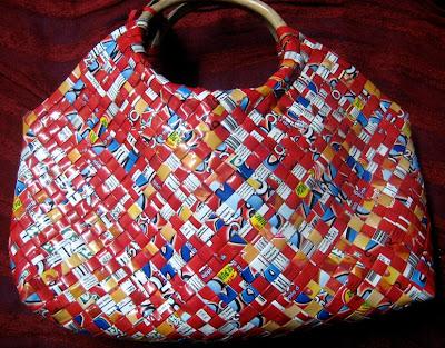 woven paper purse