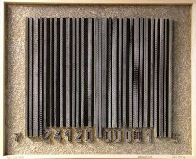 cardboard bar code art