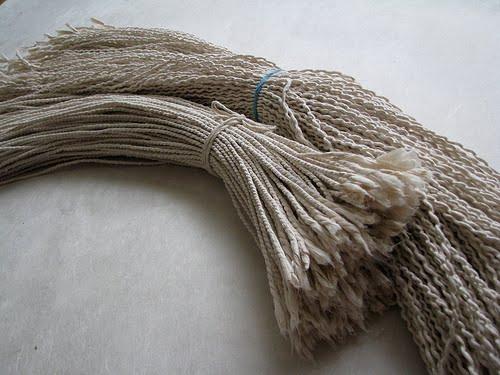 two sheafs of hanji cords