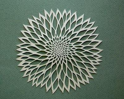 Cut paper flower