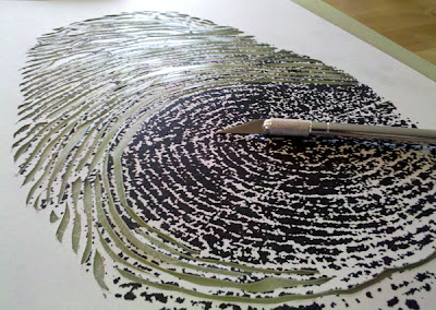 fingerprint papercutting detail