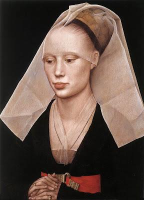 5570c205fd8 Roger van der Weyden, Retrato de mujer, h.1455, ól/tabla, 37 x 27 cm.  National Gallery of Art, Washington.(ampliar reproducciones)