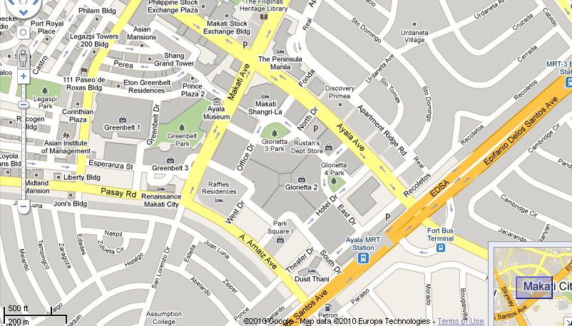 How To Get To Ayala Center Directions Routes Maps