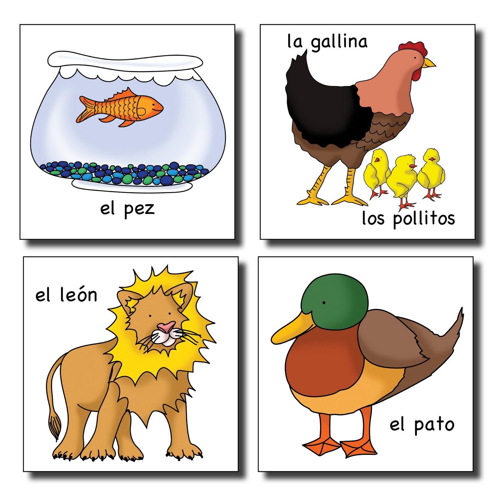 Calico Spanish Cual Animal Soy A Great Game With Spanish
