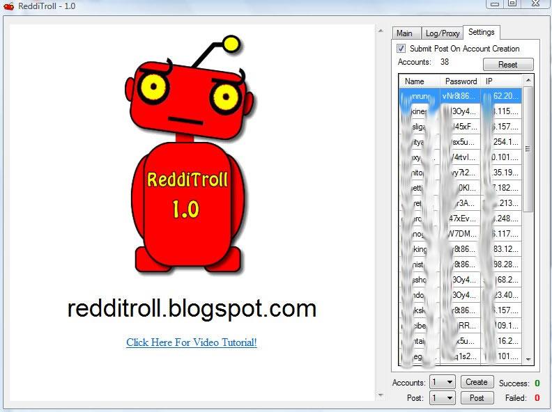 redditroll reddit bot automated reddit software