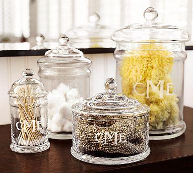 Gl Bathroom Jars Canisters Brilliant Decor Nautical