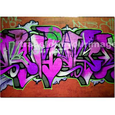 Grafity Font Urban Graffiti Art Mad Pink Canvas